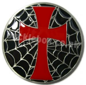 CROSS & WEB BELT BUCKLE + display stand